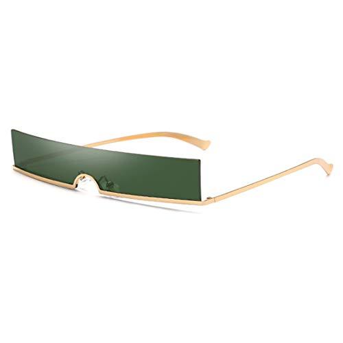 Inlefen Unisex sin marco Colores de caramelo Lentes de plástico Gafas de sol