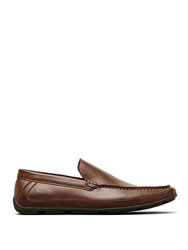 Faux Leather Shoes (Kenneth Cole Reaction Men's Cognac Faux-Leather Lap Of Luxury Slip-On Loafer 8.5 M)