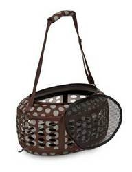 Curvations Underseat Carrier Brown/grey Dots