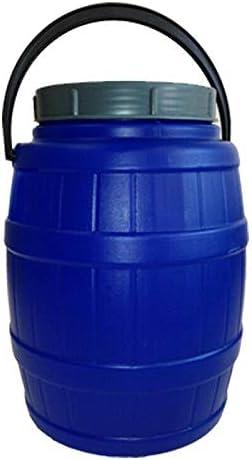Weithalsfass 10 Liter mit Henkel blau Schraubdeckelfass Mostfass Wasser Saft Federweiser Kunststoff Plastik Fass