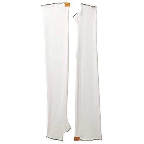 Eclipse Sun Products UPF 50+ Sun Sleeves, Medium, White ()