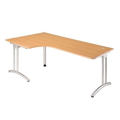 Ufficio Scrivania Angolare tavolo da lavoro in legno di noce 200 x ...
