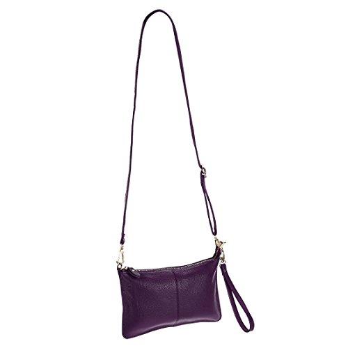 las de Crossbody Moda de Bolsa mano Pequeño Bolso de Diferente la Para Purple Cuero Bolsa bolso de Manilla PU mujeres hombro billeteras embrague Iw4Ygq