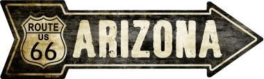 Smart Blonde Outdoor Decor Vintage Route 66 Arizona Novelty Metal Arrow Sign A-127