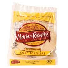 Maria and Ricardos White Corn Tortilla, 6 inch -- 12 per case. White Corn Tortilla