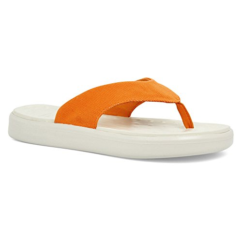 SoftScience Unisex Skiff Leinwand Flip Flop Hell orange