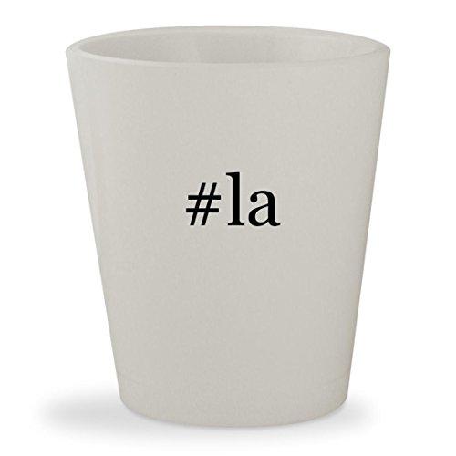 #la - White Hashtag Ceramic 1.5oz Shot Glass (To Tickets Las Airline Vegas)