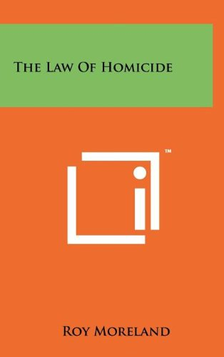 The Law of Homicide PDF