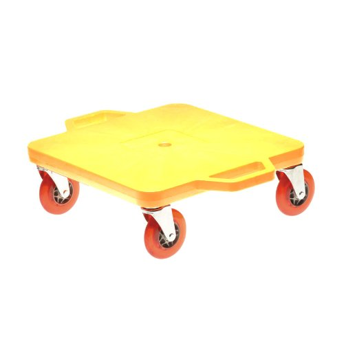 Cosom 16 Inch Premium Plastic Scooter Board With 4 Inch Non-Marring Performance Wheels and Double Race Bearings for Children, Physical Education Class, With Safety Handles, Yellow
