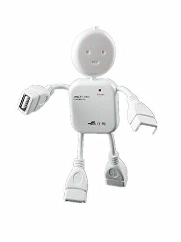 Drhob 1pc Humanoid usb splitter long USB Interface small humanoid USB extension HUB splitter splitter