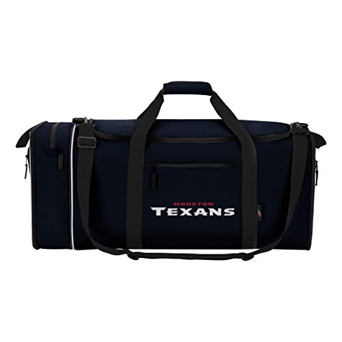 NFL Houston Texans NFL Steal Duffel, Navy, Measures 28