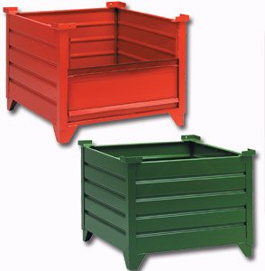 Gateway Rack, Corrugated Steel Containers With 18In. Inside Height, H600-379, Overall Size W X D X H: 30 X 30 X 23.5