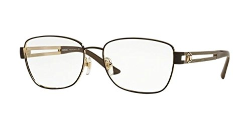 Versace VE1234 Eyeglass Frames 1369-52 - Pale Gold/matte Brown VE1234-1369-52 by Versace