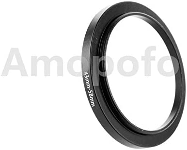 Amopofo Universal 43-58mm //43mm to 58mm Step Up Ring Filter Adapter for UV,ND,CPL,Metal Step Up Ring Adapter