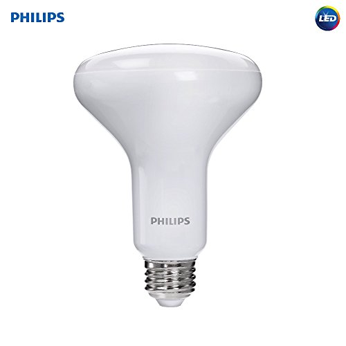 Philips LED Dimmable BR30 Soft White Light Bulb with Warm Glow Effect 650-Lumen, 2700-2200-Kelvin, 9-Watt (65-Watt Equivalent), E26 Base, Frosted, 1-Pack