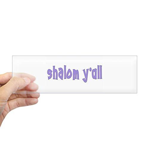 (CafePress Jewish Shalom Y'all Bumper Sticker 10