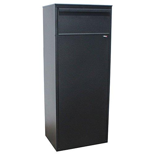 Letter Locker Mailboxes Locking Rear (Qualarc ALX-800-REAR-BK Allux 800 Series Galvanized Steel Mail and Parcel Box with Rear Locking Retrieval Door, Black)