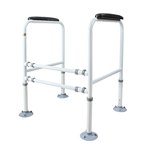 GQQ Bathroom handrails Elderly/Handicapped Toilet handrail Stand-Alone Suction Cup Toilet Frame guardrail Width and Height Adjustable