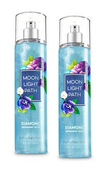 Bath and Body Works 2 Pack Moonlight Path Diamond Shimmer Mist ()