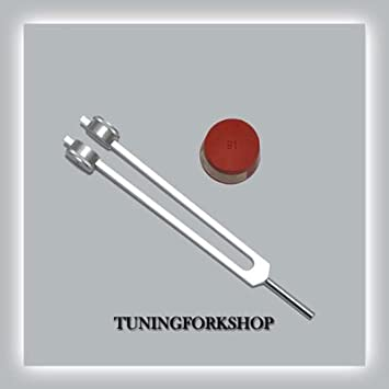 TFS Tuningforkshop 50 Hz Nerve Tuning Fork for Healing with  Activator,Pouch& Free Shipping