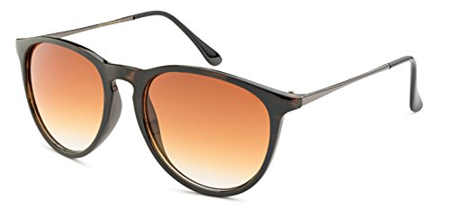 Stylle Womens Round Sunglasses - Shiny Havana Frame with Brown - Stylle Sunglasses