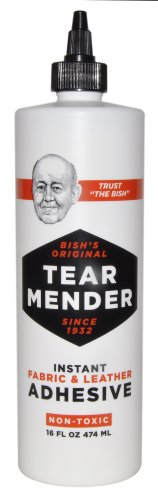 Tear Mender TM-16-EA Instant Fabric and Leather Adhesive, 16 Oz Bottle, Tg-16, ()