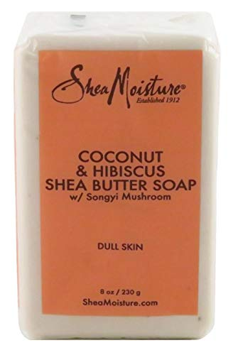 Shea Moisture Soap 8 Ounce Bar Coconut & Hibiscus Shea Butte