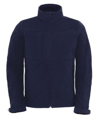B&C Softshell Hooded Jacket Men BCJM950 / Farbe: Navy /Größe: 3XL