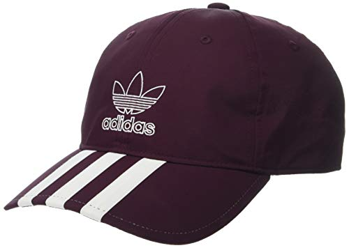 adidas Men's Originals Relaxed Applique Strapback Cap, Maroon/White, One Size