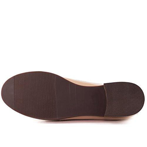 Donna Vera Pelle Made In Brasile Est Villaggio Classico Penny Loafer Marc Joseph Scarpe Moda Ny Brevetto Nudo