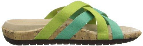 Edie Green Sandals Crisp Spearmint Stretch Blue Women's Crocs 0Uqpdwp