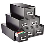 MMF263F6916DBLA Drawer Card Cabinet Holds 3000 6 x 9 cards, 20 3/8 x 16 x 8 3/8