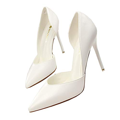 legant Pumps Pointed Sexy Club Ultra 10.5cm Thin High Shoes High-Heeled Shoes Hollow Sweet Stiletto 3168-3 5 ()