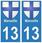 EUSKAL HERRIA EH: 13, Marsella ciudad, pegatina para placa de ...