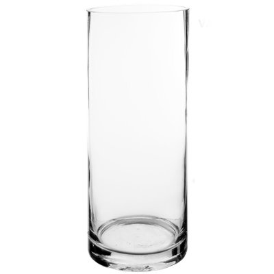 "CYS EXCEL Glass Vase, Cylinder Vase, Vase For Decor, Vases For Flowers, Diameter 6"" & 8"" With Multiple Heights Available, (Pack of 1)"