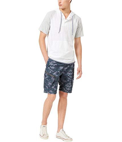 American Rag Mens Colorblocked Hoodie Sweatshirt, White, XX-Large