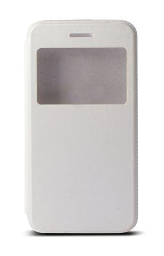 VSHOP ® Ultra Slim Flip housse étui avec fenêtre Blanc, iPhone 6/6s