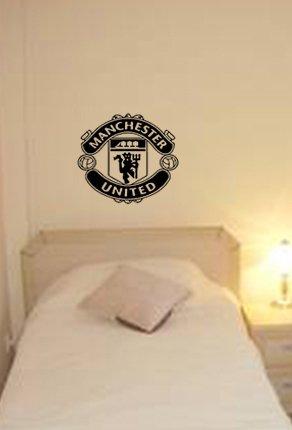 Manchester United Football Club Badge Emblem Vinyl Wall Art Sticker ...