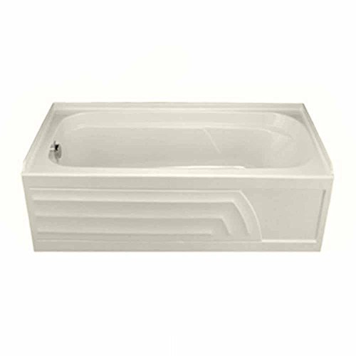 American Standard 2740.202.222 Colony Bath Tub with Integral Apron, Dual Molded-In Armrests and Left-Hand Outlet, Linen