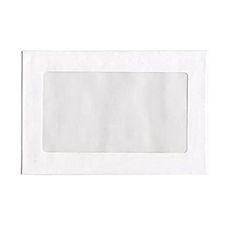 JAM PAPER 6 x 9 Booklet Window Display Commercial Envelopes - White - 25/Pack JAM Paper & Envelope 0223933