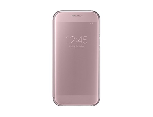 Cheap Cases Samsung Galaxy A7 2017 Clear View Cover (Pink)