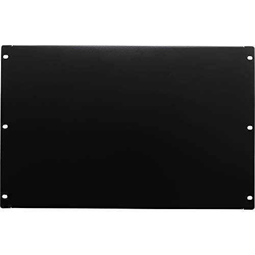 NavePoint 7U Blank Rack Mount Panel Spacer for 19-Inch Server Network Rack Enclosure Or Cabinet Black