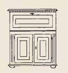 Gradel Valentina Sekretär mit 1 Klappe, 2 kleinen Schubkästen, 2 Türen und 1 Einlegeboden in Fichte massiv - natur gewachst