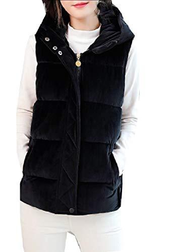 セーブ混沌翻訳maweisong レディースノースリーブプラスジャケットは、ダウンベストベルベットモックネックダウンベスト