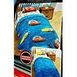 Disney Pixar Cars Twin  Comforter 4 Piece Bed Set Includes Bonus Tote (Cars Set Disney Bed)