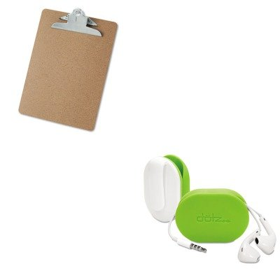 KITPRBFXW37MCLUNV40304 - Value Kit - Paris Business Products Dotz Flex Earbud Wrap (PRBFXW37MCL) and Universal 40304 Letter Size Clipboards (UNV40304)