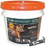 Tiger Claw TC3 Hidden Deck Fastener for Composites F-4408-3SCB 900 Pack Bulk Pail