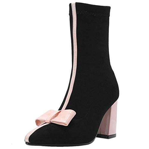 Fête Bout Pointu Femmes Chaussures Bottines Taoffen Pink Mode gwFzX