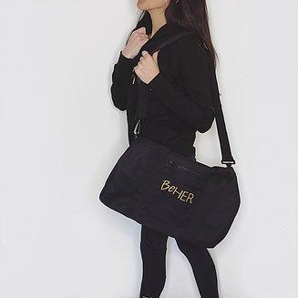 Damen Tasche/Damen Schaft Turnbeutel/Damen Duffel Bag/Ihr Bag/Schwarz
