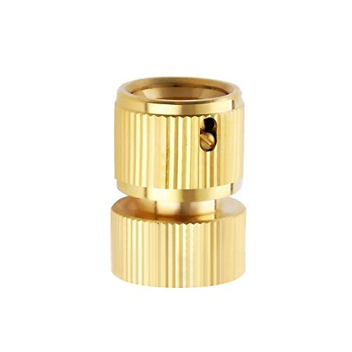 Garden Handheld - ESOW 3/4 inch Garden Female Hose Quick Connector for Garden Hose Nozzle, Hand Held Water Spray Gun, Industrial Solid Brass, Quick Disconnect Hose Fitting (One Piece)
